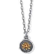Brighton Ferrara Virtue Lotus Flower Pendant Necklace (JM5052)