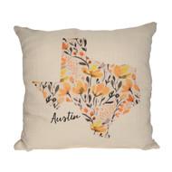 Mustard Floral Austin Pillow (STE0060) SUE PATRICK EXCLUSIVE