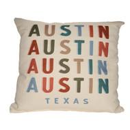 Drop Shadow Austin Texas Pillow (STE0192) SUE PATRICK EXCLUSIVE