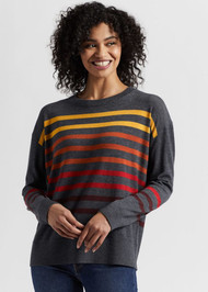 Pendleton Striped Merino Wool Crew Neck Sweater (TC958-73944)