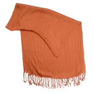 Burnt Orange Rapti Guage Scarf