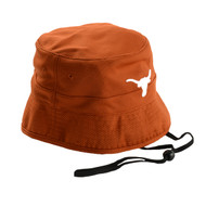 "Burnt Orange Poly-Mesh ""Gilligan"" Bucket Hat with Longhorn Logo Front"