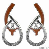 Texas Longhorn Tear Drop Earrings (3343830)