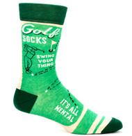 Blue Q Golf Crew Socks (Mens 7-12) in Multi-Green