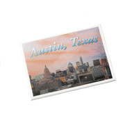"2 1/2"" X 3 1/2"" Magnet with Austin Cityscape at Sunset by Local Photographer Dennis Nauert"