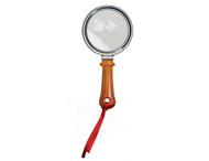 "Flat Fresnel ""Magnifier Glass"" Book Mark with Red Tassel"