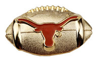 Texas Enamel Football Pin