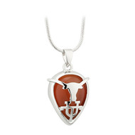 Rhodium Cat Eye Longhorn UT Pendant (S45697)