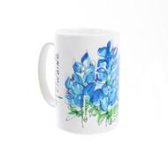 Kathleen McElwaine Bluebonnet Whimsey Mug (4167SUB)