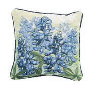 Bluebonnet Tapestry Corded Pillow (C-TLBLBN)