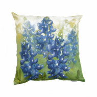 Texas Hill Country Bluebonnet Canvas Pillow (SQBLB)