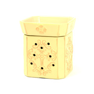 Tyler Candle Matte Ivory/Brushed Gold Glory Warmer