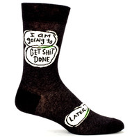 Blue Q Get Shit Done Socks (SW802)