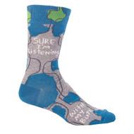 Blue Q Sure I'm Listening Socks (SW825)