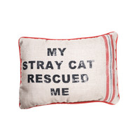 My Stray Cat Rescued Me Pillow - Front