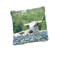 Blue Bonnet Lazy Day Tapestry Pillow