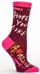 Blue Q Hope You Like Amazing Crew Socks (SW473)