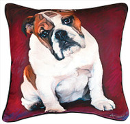 MWW Bulldog Baby Pillow SLBBBD