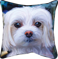 MWW Little Lord Maltese Pillow SLLLMM