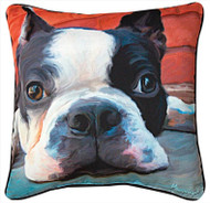 MWW Moxley Boston Terrier Pillow SLMXBT