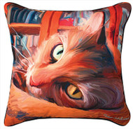 MWW Yellow Kitty Cat Pillow SLKRYC