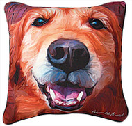 MWW Nutmeg Golden Retriever Pillow SLNMGR