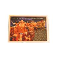 Texas Longhorn Christmas Rooftop Christmas Cards (CAL73)