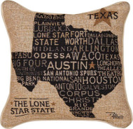 Texas Word Tapestry Pillow (TLUSTX)