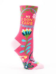 Blue Q Hi, I Don't Care Socks (SW483)