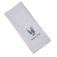 Bluebonnet Embroidered Welcome Y'all Hand Towel (Z0243)