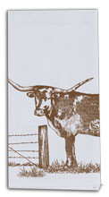 Texas Longhorn Flour Sack Tea Towel (R0315)