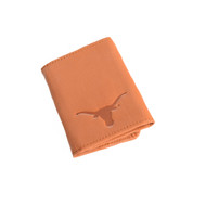 Texas Longhorn Leather Tri-Fold Wallet (T526)