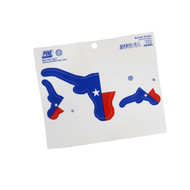 Texas Longhorn Texas Flag Logo Decals (4)(SD01TXFL)