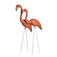 Burnt Orange Flamingos Pair (2 Pieces) (F-DODO)