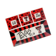 Texas Tech 4 Section Platter