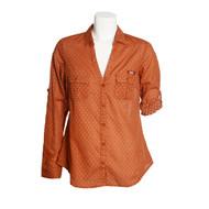 Texas Longhorn Ladies Columbia Sun Drifter Shirt (White Dots)