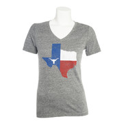Texas Flag V-Neck Ladies Tee