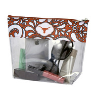 Texas Longhorn Clear Travel Pouch (1247TEX)