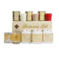 8 Piece Set including 3 Glamourous Laundry Wash 4 oz Travel Bottles in Diva,     High Maintenance and Kathina 2 Limited Edition  Votive Holders 3 Boxed 15 Hour Votives in Diva, High Maintenance and Kathina