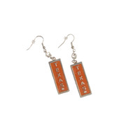 Texas Longhorn Rectangle Wire Earrings (3340330)