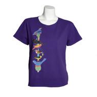 Sabaku Beautiful Bird Totem  Short Sleeve Top (2 Colors) (363GRPSSBT)