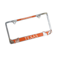 Texas Longhorn 3D Chrome Plated License Plate Frame (3DLOGO)