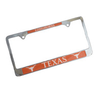 Texas Longhorn Duo Logo License Plate Frame (UTX-STD-MASC)