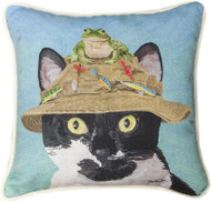 Cat in Hat with Frog Pillow (SDPCHF)