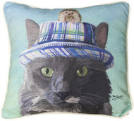 Cat in Hat with Hedgehog Pillow (SDPCWG)