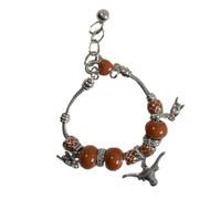 Texas Longhorn Hook 'em Charm Bracelet (3333910)
