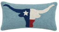 Longhorn Flag Crewel Pillow