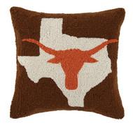 Texas Longhorn Crewel Pillow