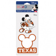 Texas Longhorn Mickey Mouse Decal (Set of 2)