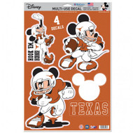 Texas Longhorn Mickey Mouse Decals (Set of 4)